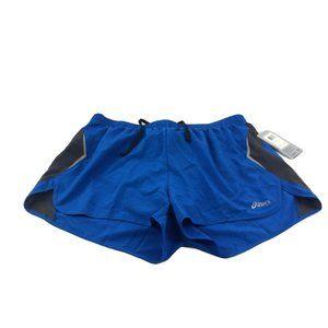 Women's Asics Spilt Athletic Blue Shorts XL